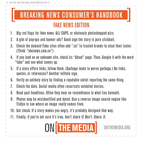Fake News Identification Tips